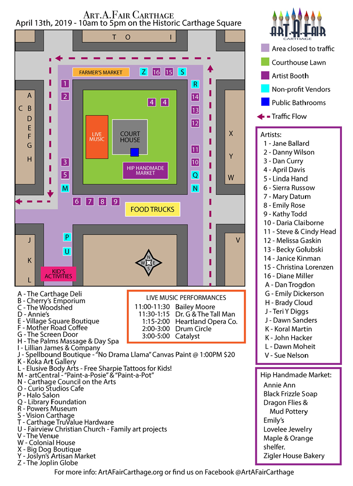 Art.A.Fair 2019 Map